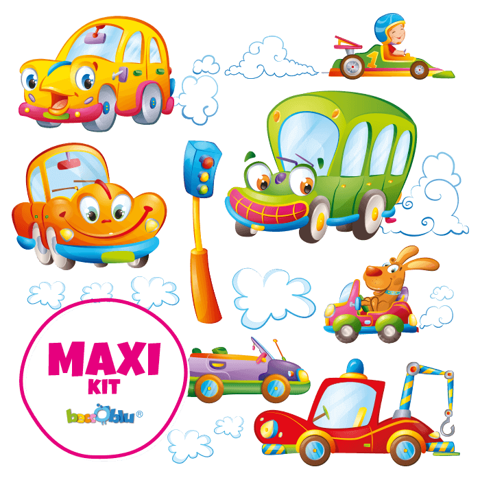 Wall Stickers for Kids Maxi Kit Behind the Wheel